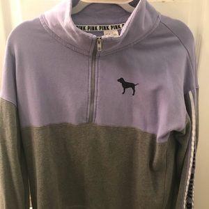 Pink Victoria Secret half zip sweatshirt